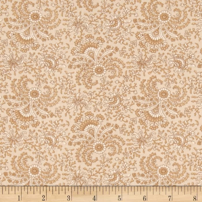Windham Secrets and Shadows Fan Floral  Tan