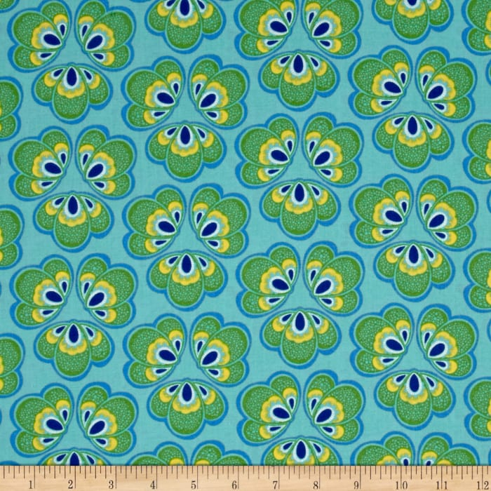 Windham Spring Bloom Medallion Floral  Turqouise