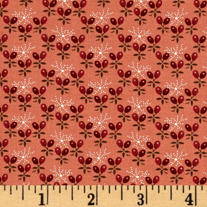 Windham Threads of Time Flower Buds  Red