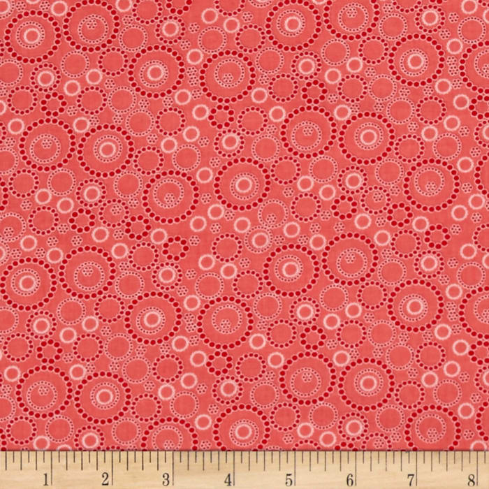 Kitchen Love Beaded Circles Light Red