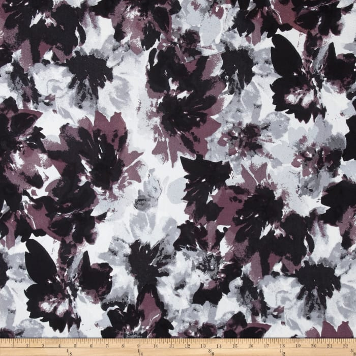 Liverpool Double Knit Floral Mosaic Grey