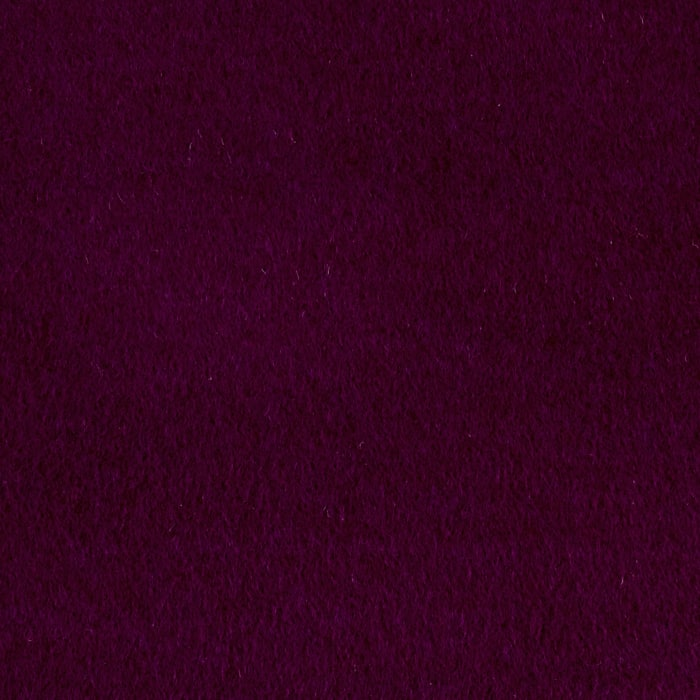 Luxury Wool Cashmere Melton Eggplant