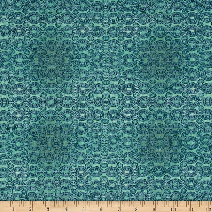 Tina Givens Rose Water Carpet Loom Turquoise
