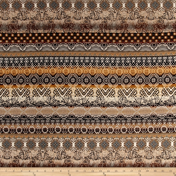 Stretch ITY Jersey Knit  Gradient Style Brown