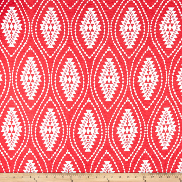 Fashion Jersey Knit Abstract Coral