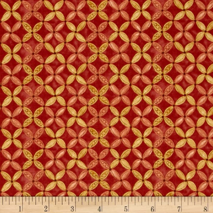 Shine Floral Red