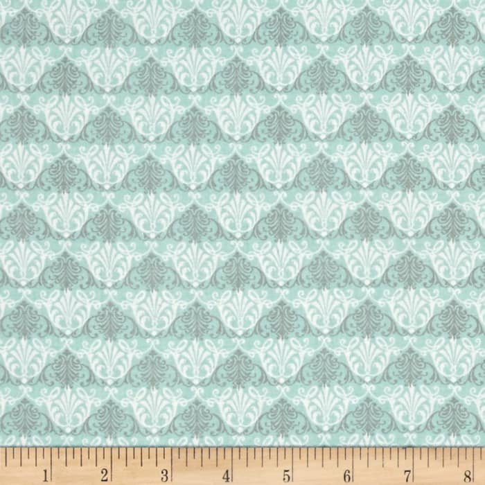 Giotto Damask Turquoise