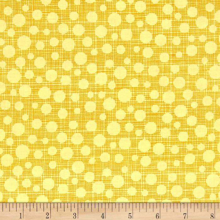 Michael Miller Hash Dot Yellow