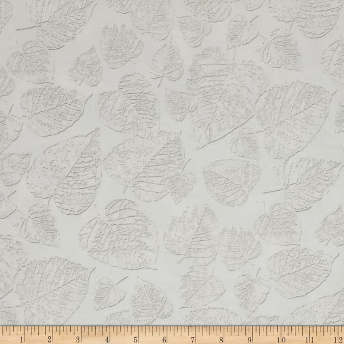 Kanvas White Out Frosted Leaves Taupe/White
