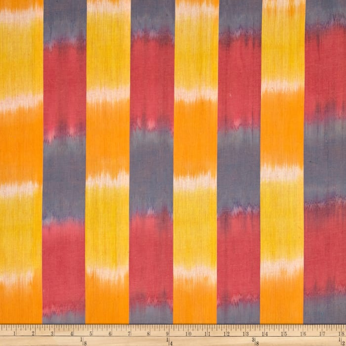 Artisan by Kaffe Fasset Yarn Dyed Wovens Ikat Stripe Yellow