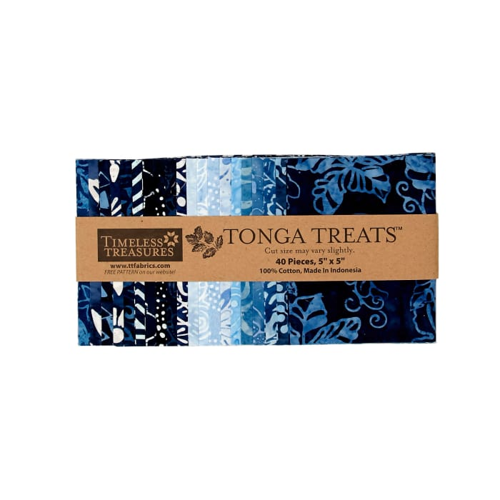 "Timeless Treasures Tonga Batik Indigo 5"" Squares"