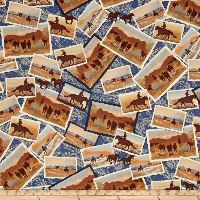 Ranch Hands Post Cards Blue