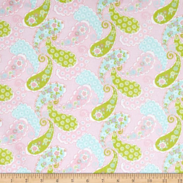 Comfy  Flannel Paisley    Pink