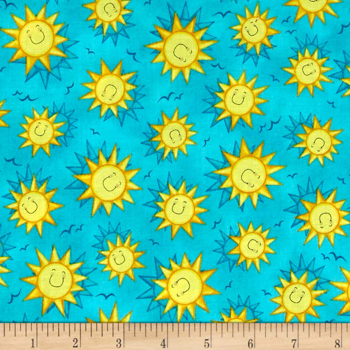 Blue And Yellow Quilting Fabric