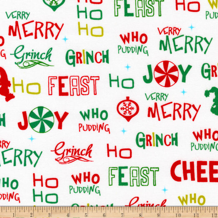 Kaufman How The Grinch Stole Christmas Words Holiday