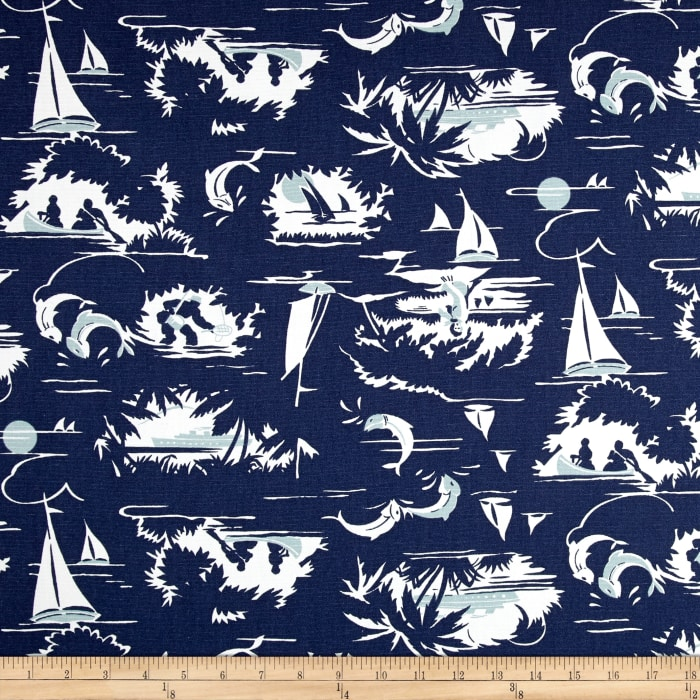 Premier Prints The Bay Vintage Indigo