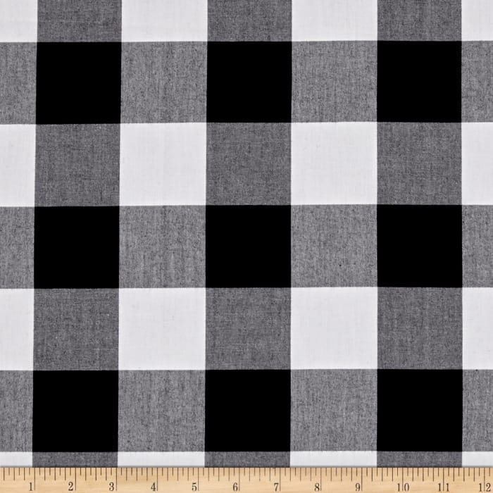 "Kaufman Carolina Gingham 2"" Black"