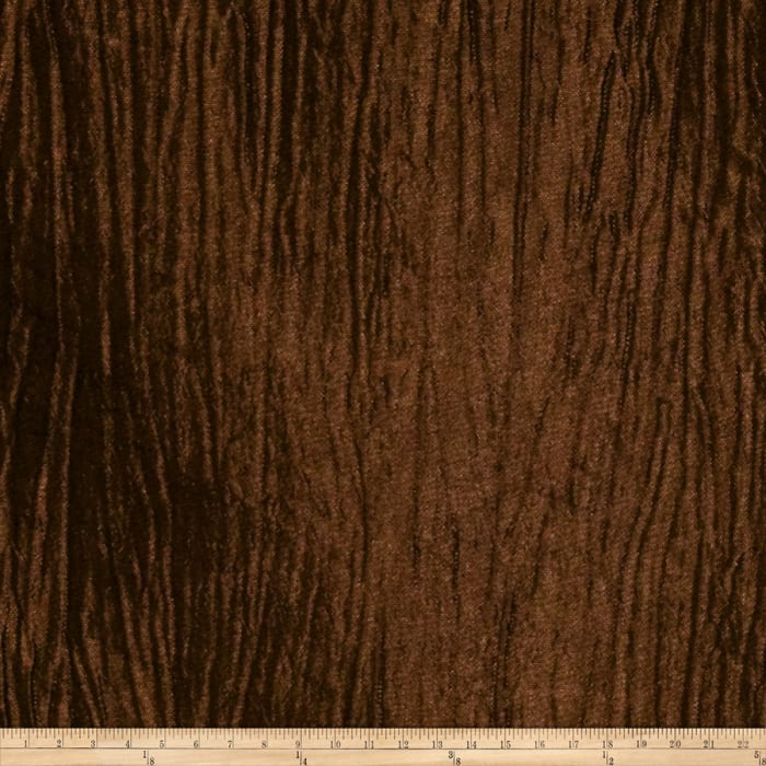 Trend 01497 Crinkled Taffeta Chocolate