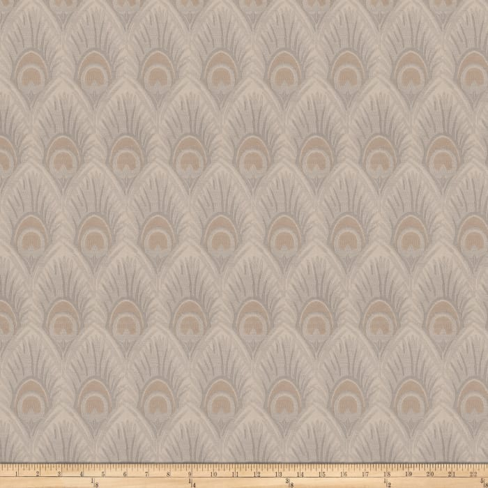Vern Yip 03374 Jacquard Feathers Natural