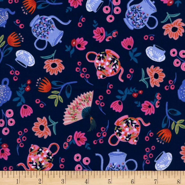 Cotton + Steel Rifle Paper Co. Wonderland Garden Party Navy