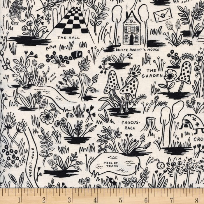 Cotton + Steel Rifle Paper Co. Wonderland Magic Forest Neutral