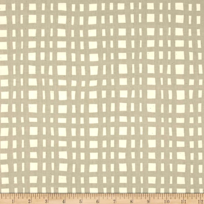 Cotton + Steel Yours Truly Going Steady Grid Natural