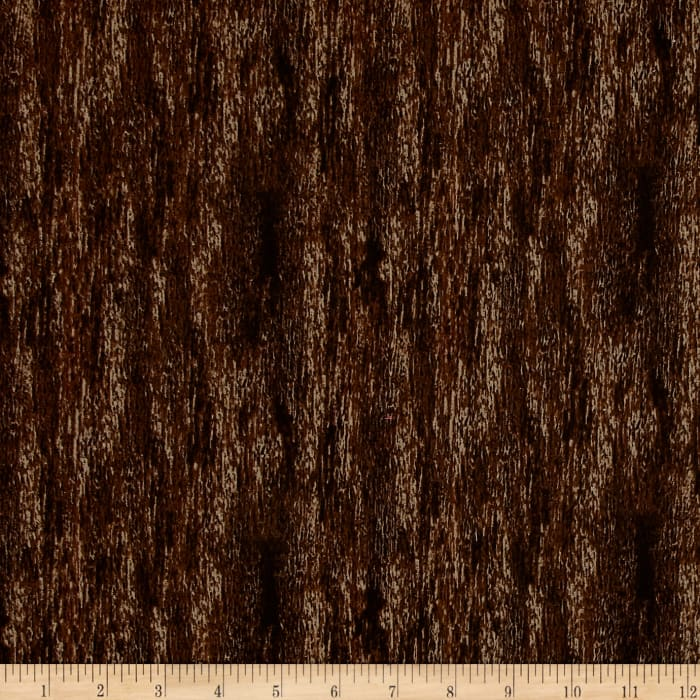 Oh Deer! Wood Texture Dark Brown