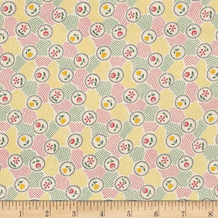 Lazy Days Floral Patchwork Ivory/Pink