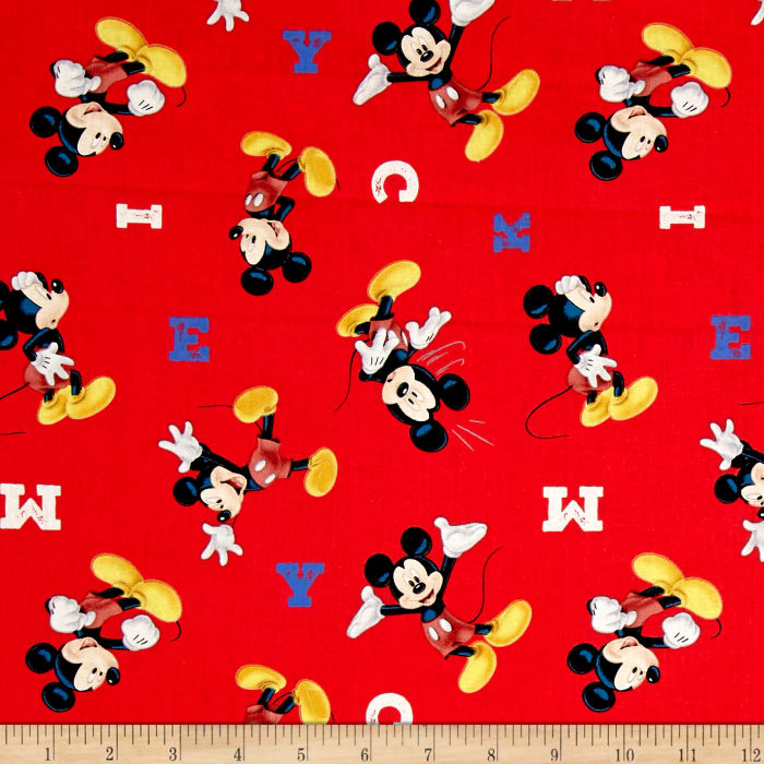 Disney Mickey Traditional M-I-C-K-E-Y Red