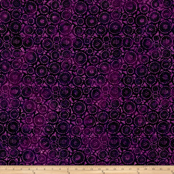 Wilmington Batiks Geo-Circles Purple
