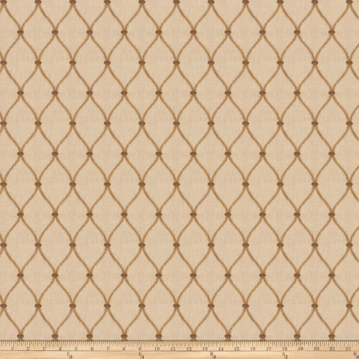 Fabricut Basslet Embroidered Wheat