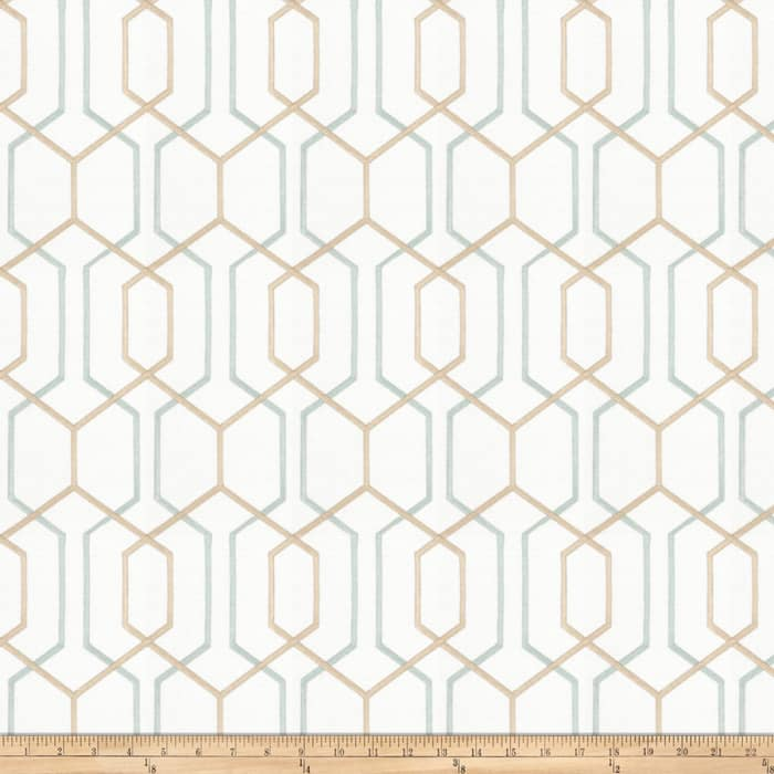 Fabricut Crosswise Embroidered Mineral