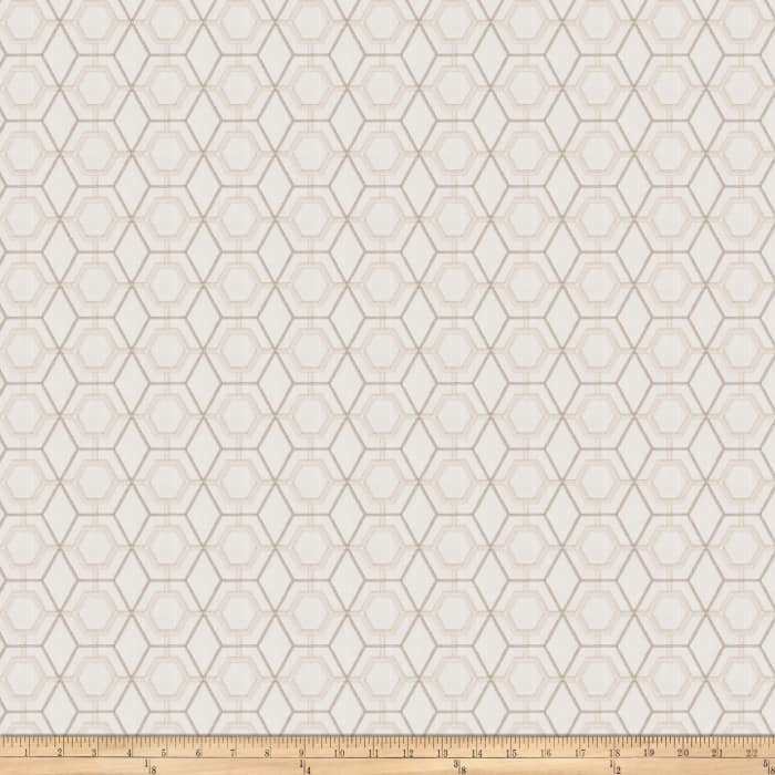 Fabricut Heinz Lattice Embroidered Canvas Oyster