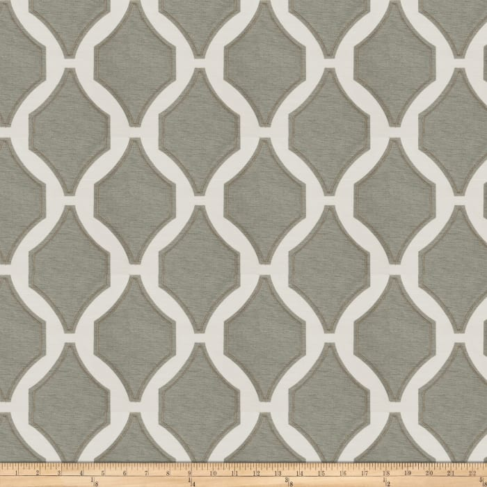 Fabricut Pavilion Embroidered Charcoal