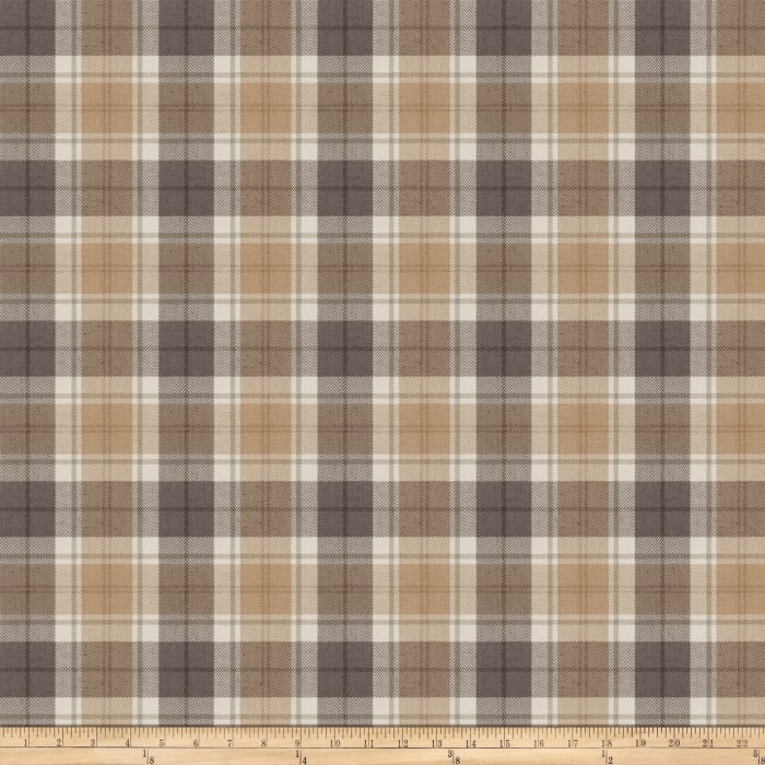 Fabricut Twitch Plaid Platinum