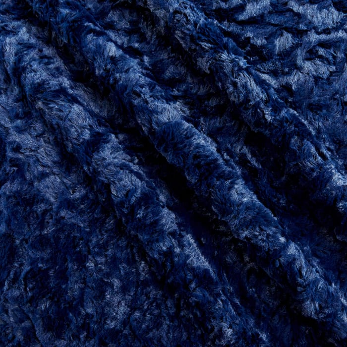 Shannon Minky Luxe Cuddle Marble Navy