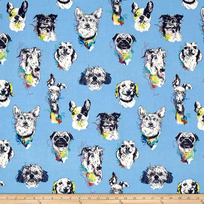 Bow Wow Wow Dog Portaits Blue