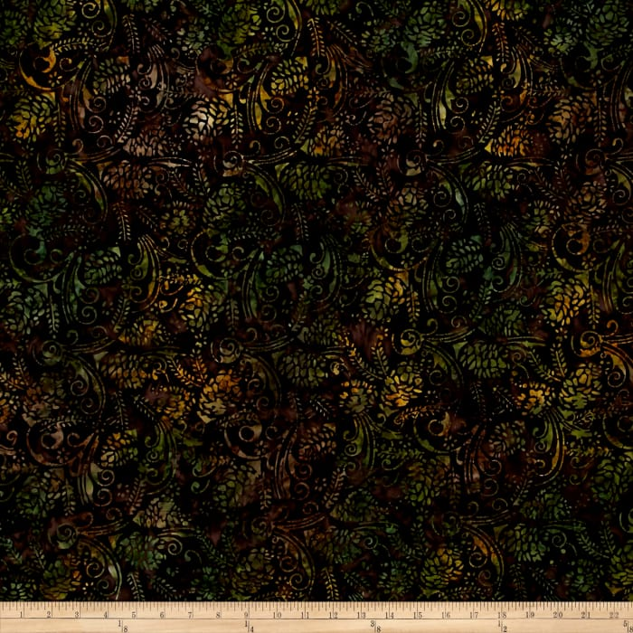 Timeless Treasures Tonga Batik Forest Floor Pine Cone Forest