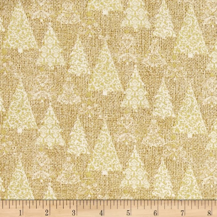 Homespun Holiday Trees Gold