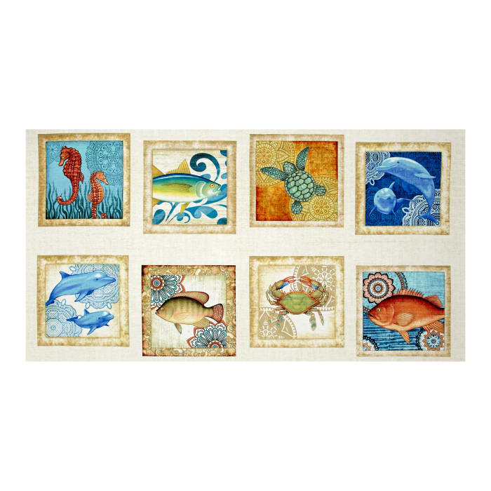 Ocean Oasis Large Fish Patch Multi