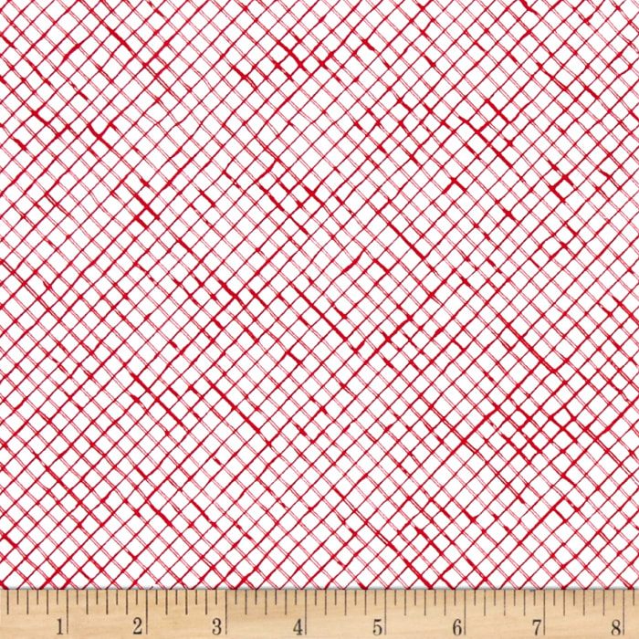 Loralie Designs Lady In Red Trellis White/Red
