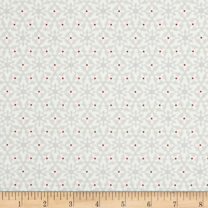 Contempo Nordic Holiday Small Snowflakes Light Grey