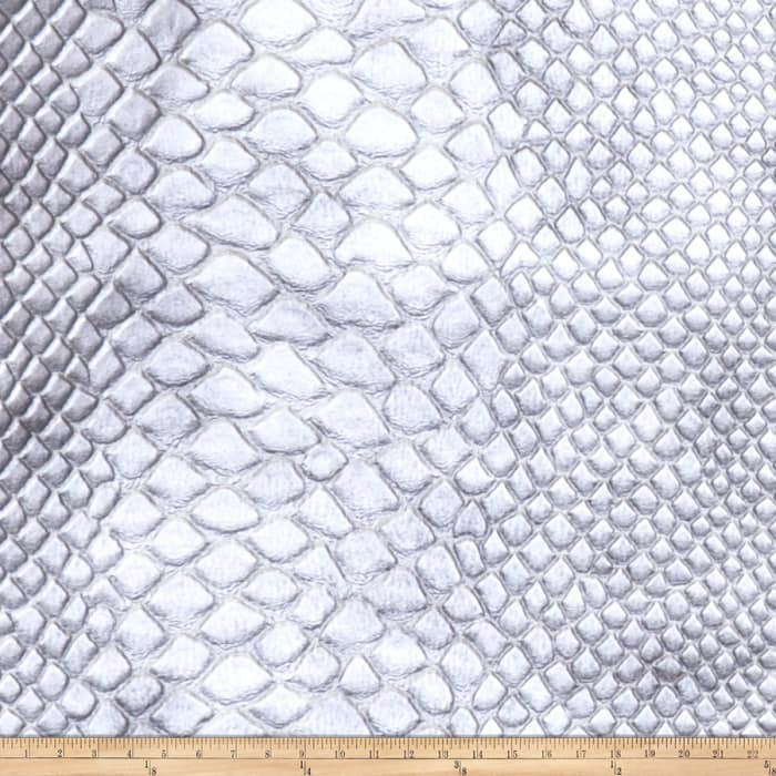 Fabricut Brass Alloy Faux Leather Silver