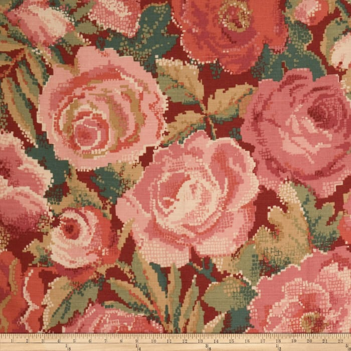 Red Fabric Home Decor Fabric By The Yard