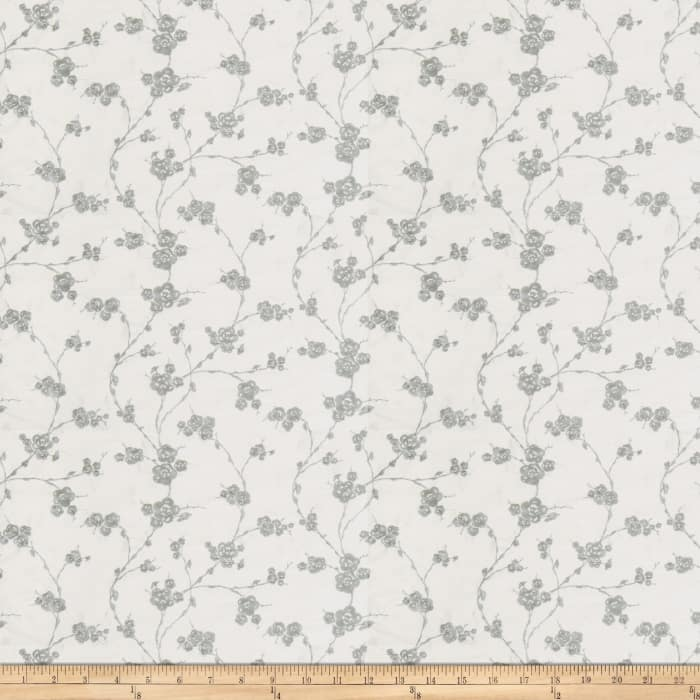 Fabricut Reeves Floral Silk Porcelain