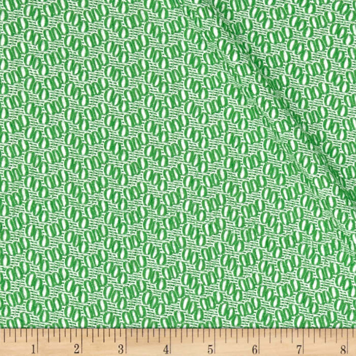 Stretch Jacquard Knit Green/White