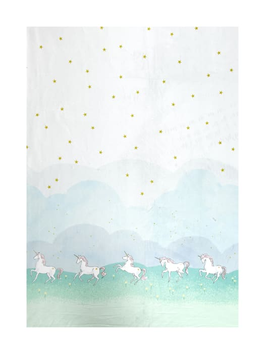 Michael Miller Minky Sarah Jane Magic Unicorn Parade Border Mint
