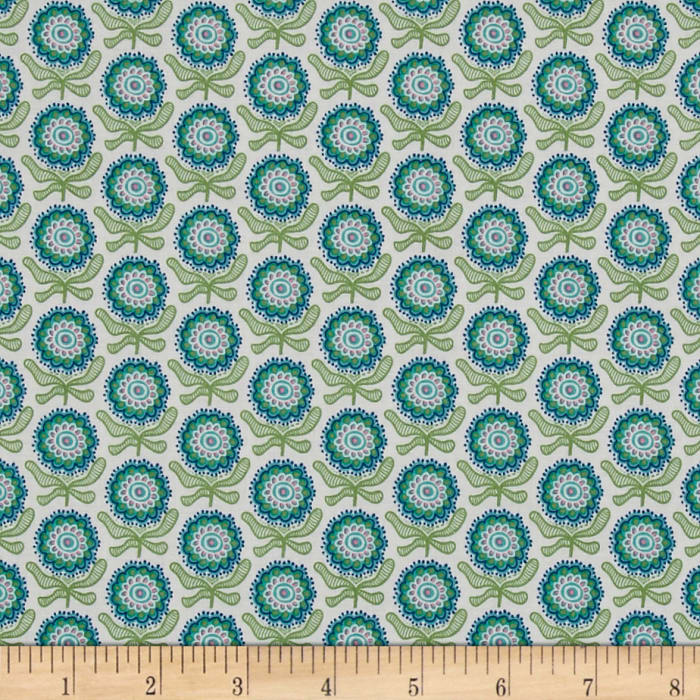 Blue And Green Quilting Fabric