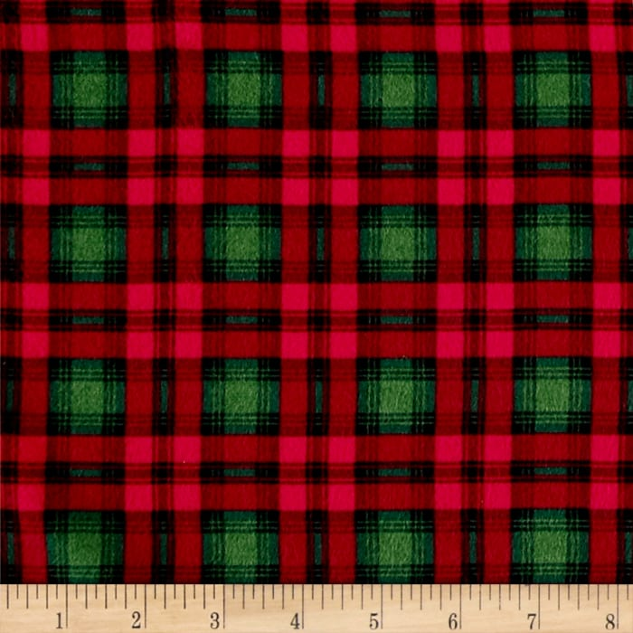 Timeless Treasures Oxford Flannel Preppy Plaid Holiday