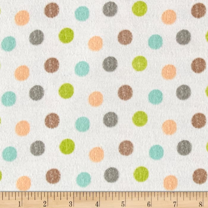 Zoovenirs Flannel Dots Ivory
